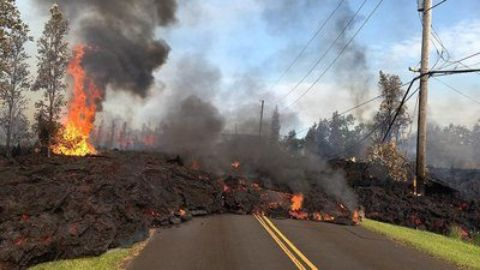 Kilauea Hawaii on Fire